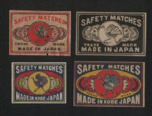 Collectible  match box labels CHINA or JAPAN patriotic  #103